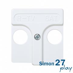 Tapa Toma R-TV+SAT Simon 27 (Blanco)