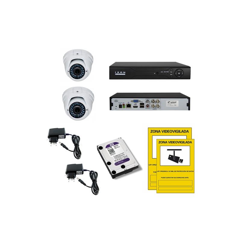 Kit videovigilancia 2 cámaras
