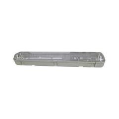 Pantalla estanca para 2 tubos LED
