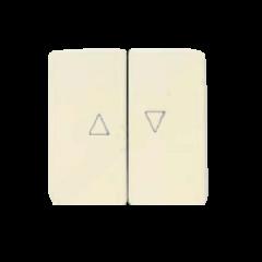 Pulsador doble persianas blanco Alpino Niessen Stylo