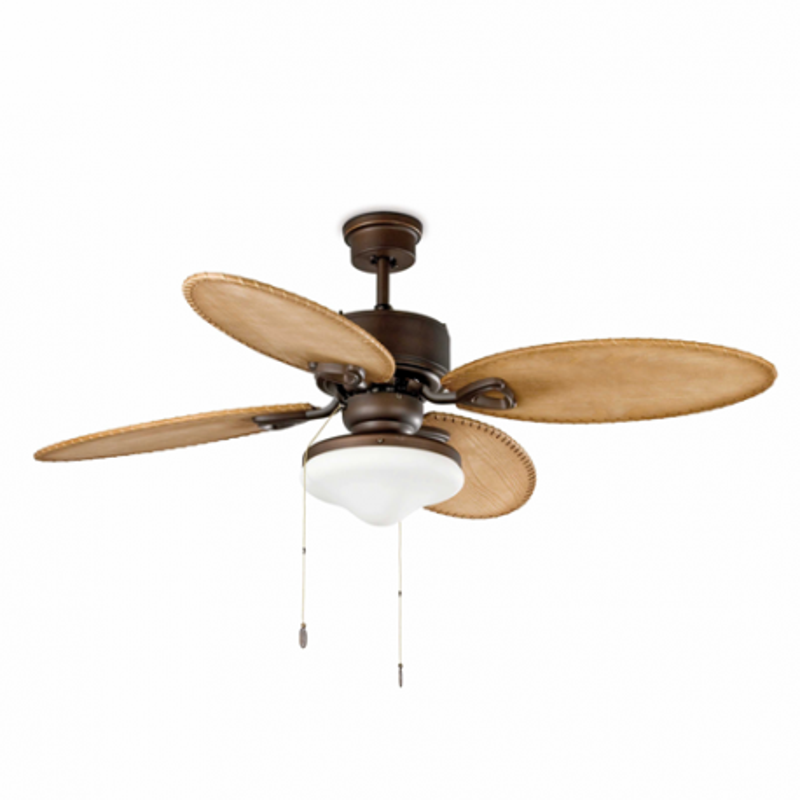 LOMBOK Ventilador de techo marrón oscuro