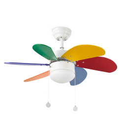 PALAO Ventilador de techo multicolor