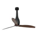 ETERFAN Ventilador de techo negro mate/madera con motor DC