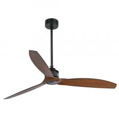 JUST FAN Ventilador de techo negro/madera con motor DC