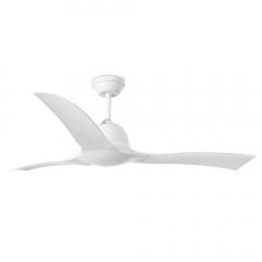 LAKKI Ventilador de techo blanco