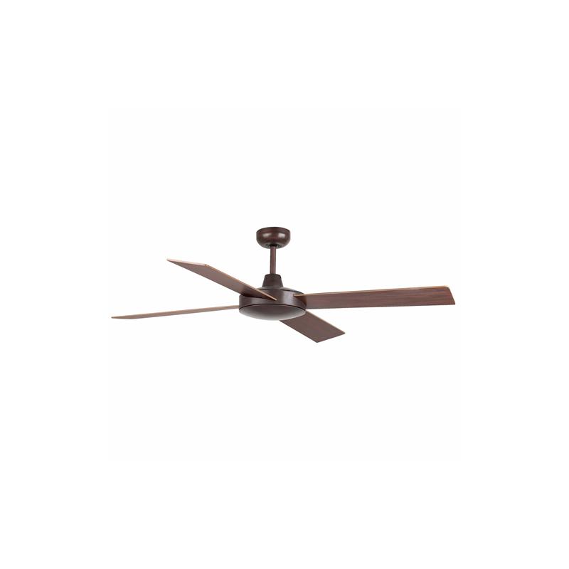 MALLORCA Ventilador de techo marrón óxido