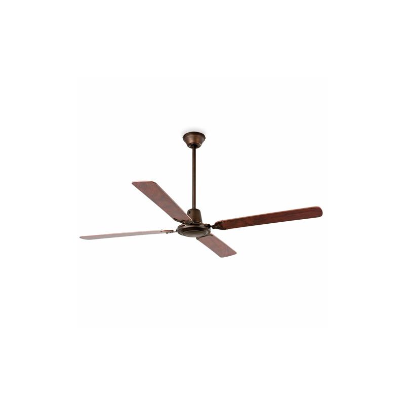 MALVINAS Ventilador de techo marrón óxido