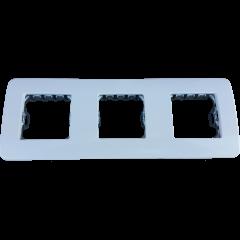 Placa 3 ventanas 6 módulos Niessen Stylo Blanco Alpino