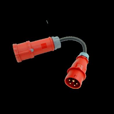 Adaptador CEE 400V (16A) para EV Portable Tipo 2 CEE 32A