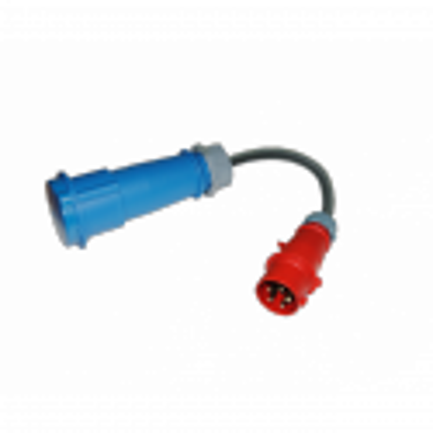 Adaptador CEE 400V (6-16A) para Punto recarga EV Portable Tipo 1 32A