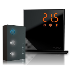 Termostato Momit Home Starter Kit (termostato+gateway) Negro