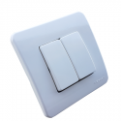 Interruptor doble con placa Niessen Stylo