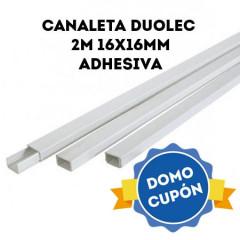 Canaleta plástica 2 m. 16x16 Adhesiva blanca DUOLEC