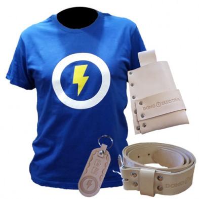 Pack Domo Electra: Camiseta + Talí + Cinturón + Llavero