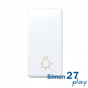 Pulsador estrecho Simon 27 Play (Blanco)