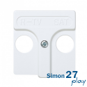 Tapa Toma R-TV+SAT Simon 27 (Blanco)
