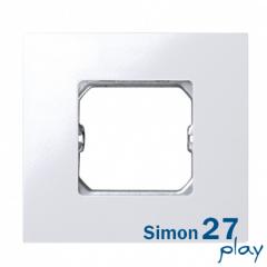 Marco compacto para 1 elemento blanco con bastidor Simon 27 Play