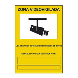 Cartel Vídeo Vigilancia