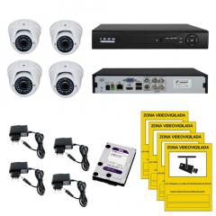 Kit Videovigilancia 4 cámaras