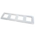 Placa 4 ventanas 8 módulos Niessen Stylo Blanco Alpino