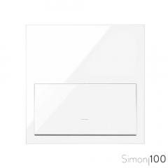 Kit front para 1 elemento con 1 tecla blanco Simon 100