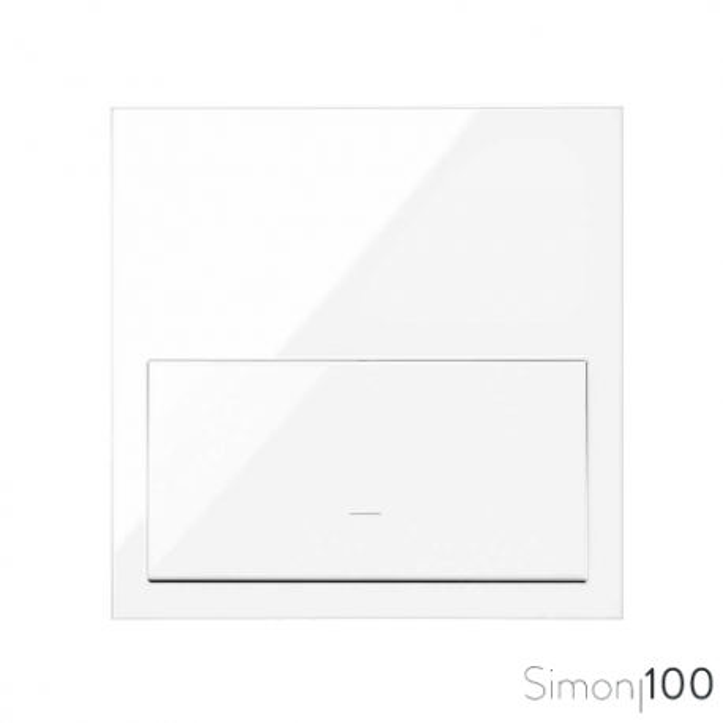 Kit front para 1 elemento con 1 tecla blanco | Simon 100