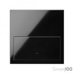Kit front para 1 elemento con 1 tecla negro Simon 100
