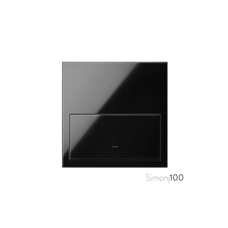 Kit front para 1 elemento con 1 tecla negro | Simon 100