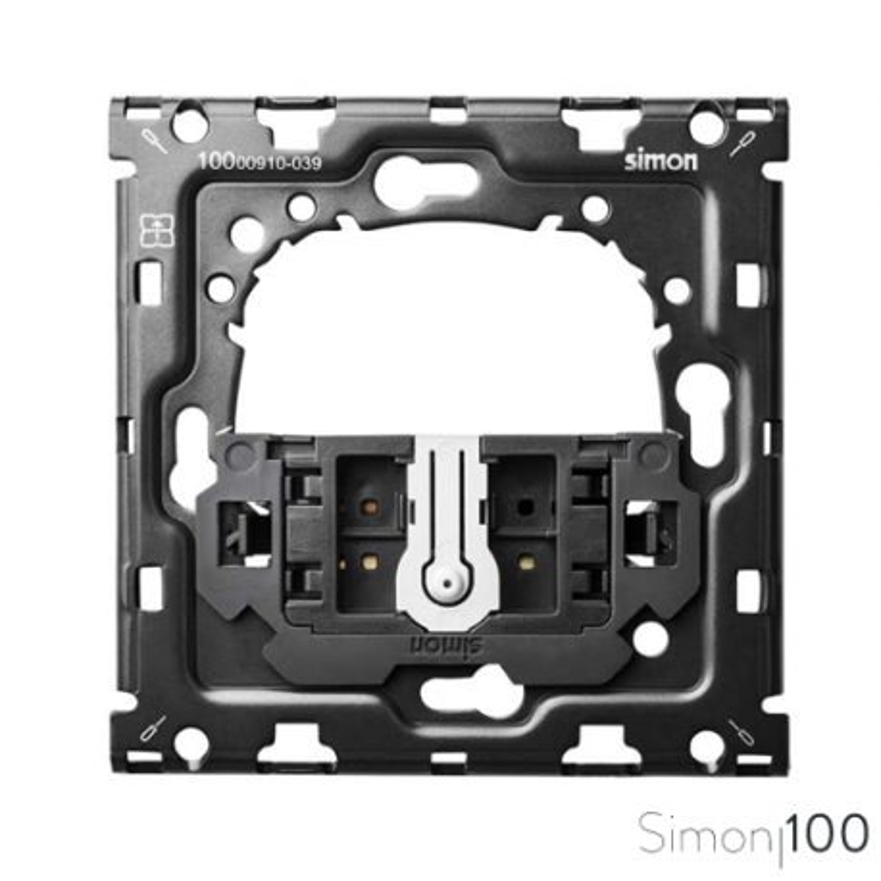 Kit back para 1 elemento con cruzamiento pulsante | Simon 100