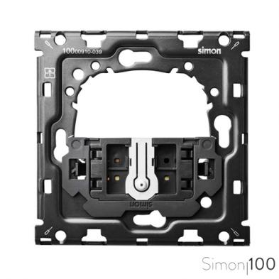 Kit back para 1 elemento con 1 cruzamiento pulsante Simon 100