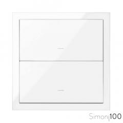 Kit front para 1 elemento con 2 teclas blanco Simon 100
