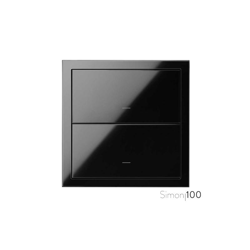 Kit front para 1 elemento con 2 teclas negro | Simon 100