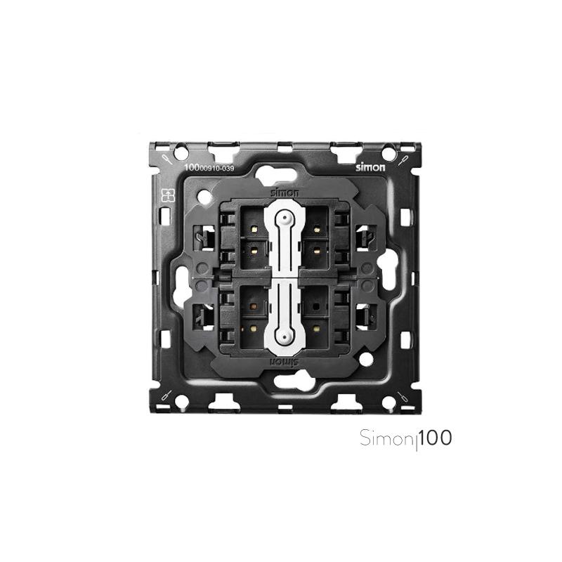 Kit back para 1 elemento con 2 cruzamientos pulsantes | Simon 100