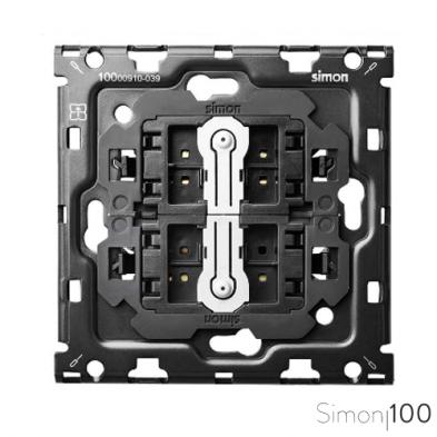 Kit back para 1 elemento con 2 cruzamientos pulsantes Simon 100