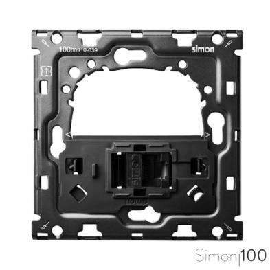 Kit back para 1 elemento con 1 conector informático RJ45 6 UTP con adaptador Simon 100