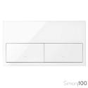 Kit front para 2 elementos con 2 teclas blanco Simon 100