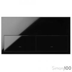 Kit front para 2 elementos con 2 teclas negro | Simon 100