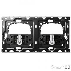 Kit back para 2 elementos con 2 conmutadores pulsantes Simon 100