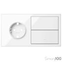 Kit front 2 elementos 1 base + 1 tecla + tapa ciega | Simon 100