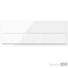 Kit front para 3 elementos con 3 teclas blanco Simon 100