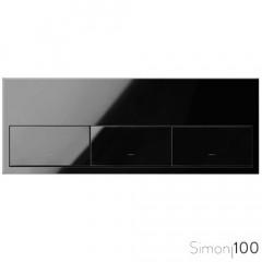 Kit front para 3 elementos con 3 teclas negro | Simon 100