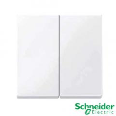 Tecla doble Schneider Serie Elegance Blanco Activo