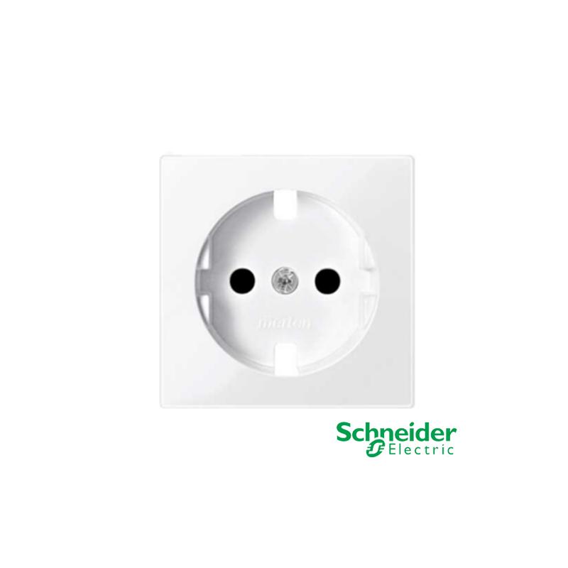 Toma de corriente Schneider Serie Elegance Blanco Activo