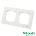 Marco 2 elementos Schneider Serie Elegance Blanco Alpino