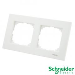 Marco 2 elementos Schneider Serie Elegance Blanco Activo