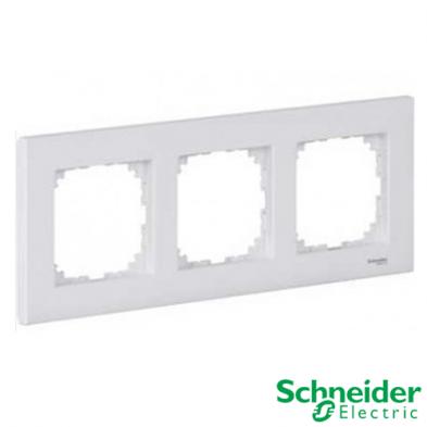Marco 3 elementos Schneider Serie Elegance Blanco Activo