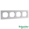 Marco 4 elementos Schneider Serie Elegance Blanco Activo