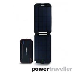 Cargador portátil Extreme 12000 mAh + panel solar, negro