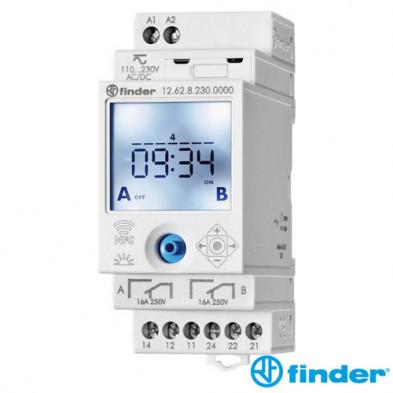 Interruptor Horario Digital Semanal Finder 12.62