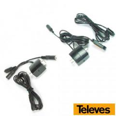 Emisor más Receptor señal mando a distancia por Cable Coaxial 7605